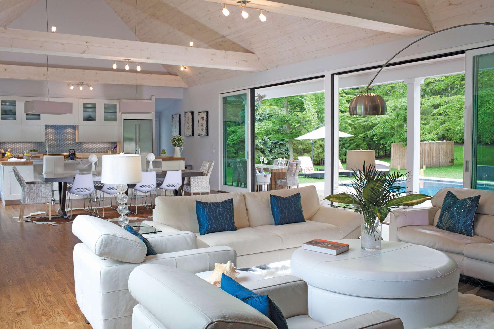 modern barn homes living room