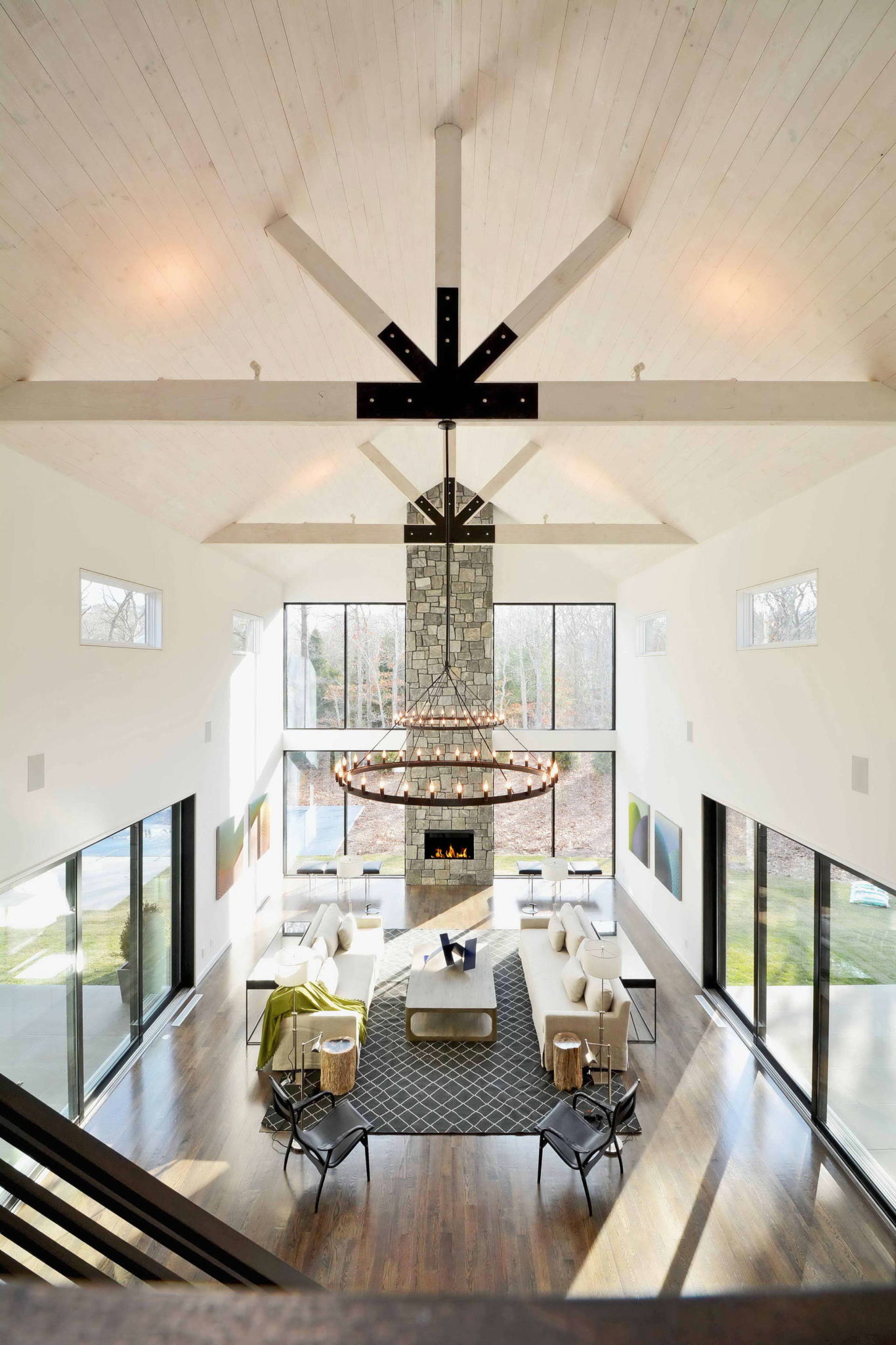 modern barn living room