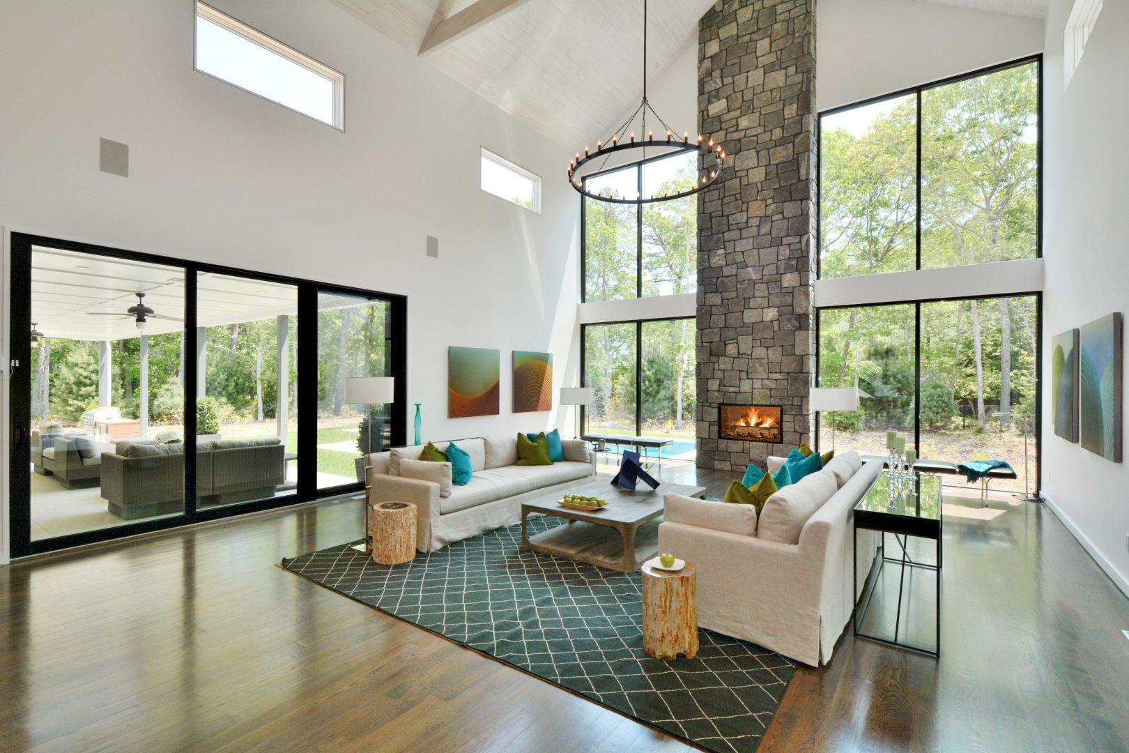 modern barn living room