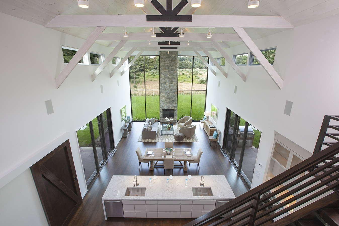 custom built modern barn